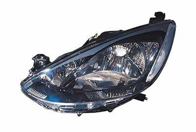 HEADLAMP - L/H - MANUAL/ELECTRIC - BLACK - TO SUIT MAZDA DEMIO/ MAZDA 2 - DE3F - 5DR H/B - 2007-