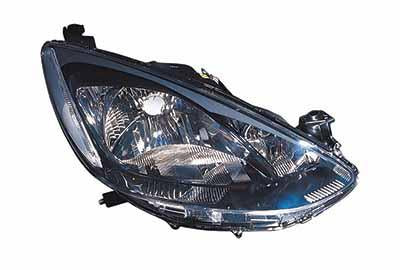 HEADLAMP - R/H - MANUAL/ELECTRIC - BLACK - TO SUIT MAZDA DEMIO/ MAZDA 2 - DE3F - 5DR H/B - 2007-