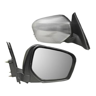 DOOR MIRROR - L/H - MANUAL - CHROME - TO SUIT MITSUBISHI TRITON L200 2005-