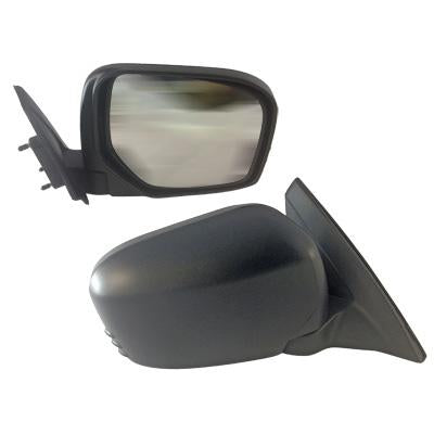 DOOR MIRROR - L/H - MANUAL - BLACK - TO SUIT MITSUBISHI TRITON L200 2005-
