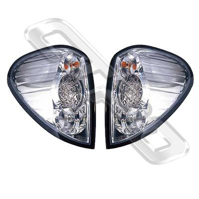 3707598-90PG-REAR LAMP - SET - L&R - CHROME - LED - MITSUBISHI TRITON L200 2005-