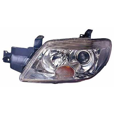HEADLAMP - L/H - MANUAL - CHROME - TO SUIT MITSUBISHI AIRTREK 2005-