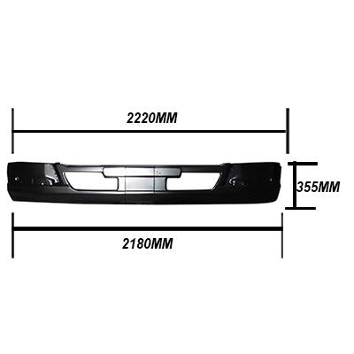 FRONT BUMPER - W/CAB - W/O FOG LAMP - SHALLOW - MITSUBISHI FIGHTER 2006-  H/L IN CORNER PANEL