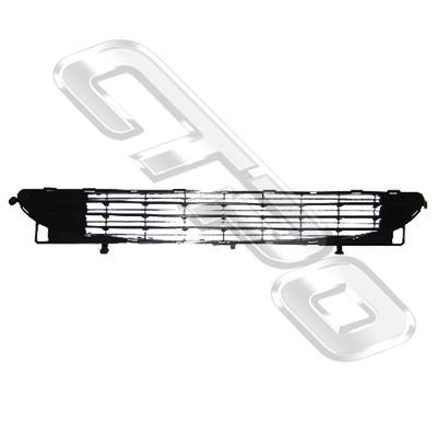 GRILLE - FOR FRONT BUMPER - MAT BLACK - TO SUIT PEUGEOT 307 2000-