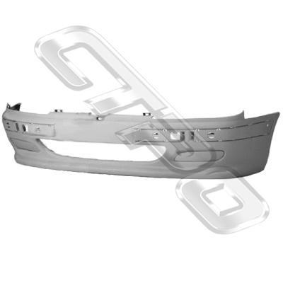 FRONT BUMPER - W/FOG LAMP COVERS - TO SUIT PEUGEOT 406 1996-