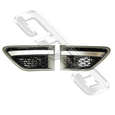 FRONT GUARD GARNISH SET - L&R - AIR INLET - TO SUIT RANGE ROVER SPORT 2010- F/LIFT