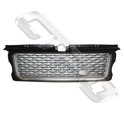 FRONT GRILLE - SILVER - TO SUIT RANGE ROVER SPORT 2005-