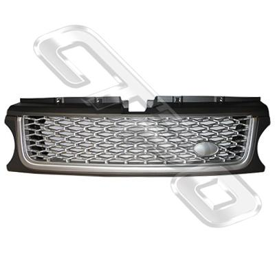 FRONT GRILLE - SILVER - TO SUIT RANGE ROVER SPORT 2010- F/LIFT