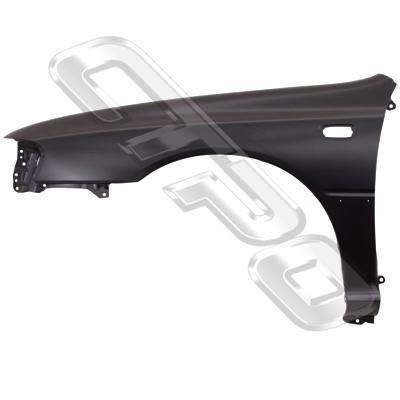 FRONT GUARD - L/H - W/SLP & MLDG HOLE - TO SUIT SUBARU IMPREZA 1992-