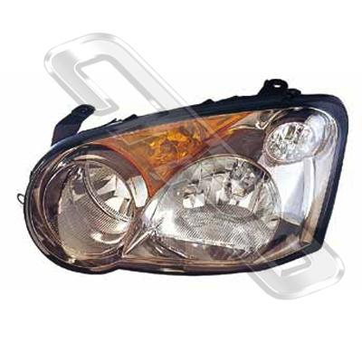 HEADLAMP - L/H - MANUAL - TO SUIT SUBARU IMPREZA 2002-  NZ MODEL