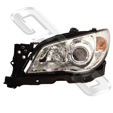 HEADLAMP - L/H - ELECTRIC - CHROME - TO SUIT SUBARU IMPREZA 2005-