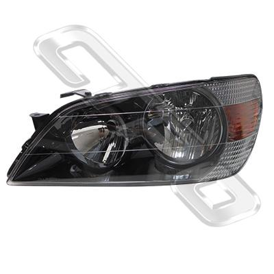 HEADLAMP - L/H -  DARK CHROME - TO SUIT TOYOTA ALTEZZA  IS200 1998-