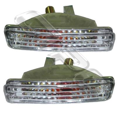 BUMPER LAMP - SET - L&R - CLEAR - TO SUIT TOYOTA HILUX 2WD/4WD 1989-98