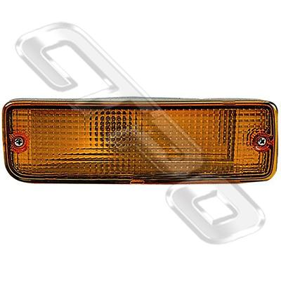 BUMPER LAMP - L/H - AMBER  - TO SUIT TOYOTA HILUX 2WD/4WD 1989-98
