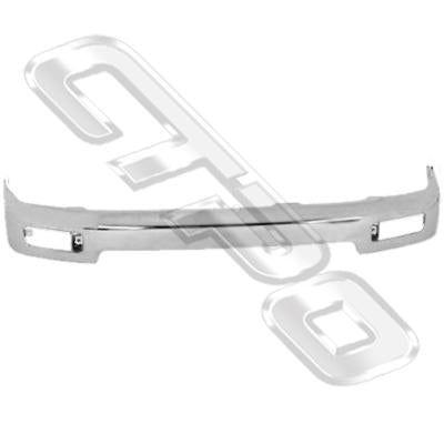 FRONT BUMPER - CHROME - 1 PCE - TO SUIT TOYOTA HILUX 4WD/4 RUNNER KZN185 1996-