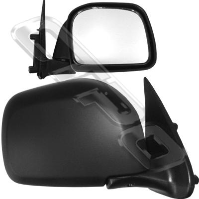 MIRROR - CNR MOUNTED - MANUAL - R/H - BLK - TO SUIT TOYOTA HILUX 4WD 1999-01