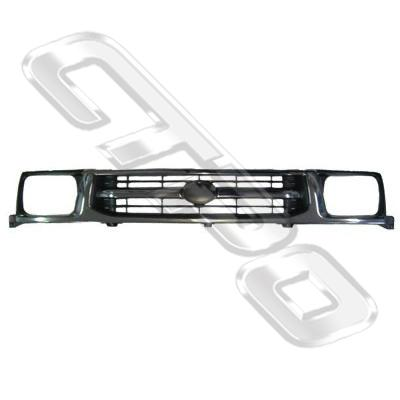 GRILLE - CHROME DARK GREY - TO SUIT TOYOTA HILUX 4WD 1999-01