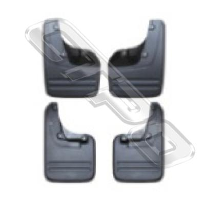 MUD FLAP - SET - 4 PCS - TO SUIT TOYOTA HILUX 2011-