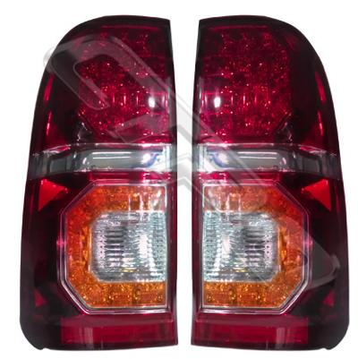 8128198-53PG-REAR LAMP SET - L&R - AMBER TYPE - LED - TOYOTA HILUX 2005-