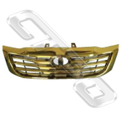 GRILLE - PERFORMANCE TYPE - GOLDEN - TO SUIT TOYOTA HILUX 2011-