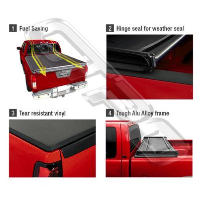TONNEAU COVER - TRI FOLDING FOR TOYOTA HILUX 2015-