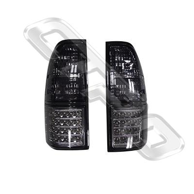 REAR LAMP - SET - L&R - LED - SMOKEY - TO SUIT TOYOTA PRADO J95 1996-