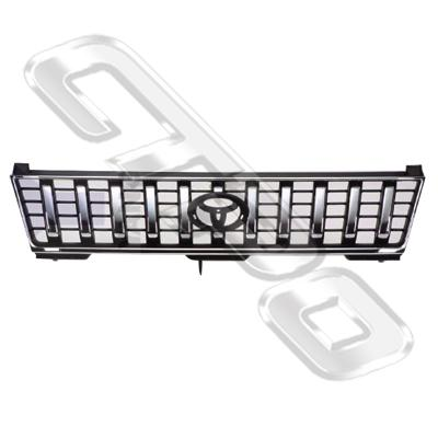 GRILLE - CHROME/BLACK - TO SUIT TOYOTA PRADO J95 1996-