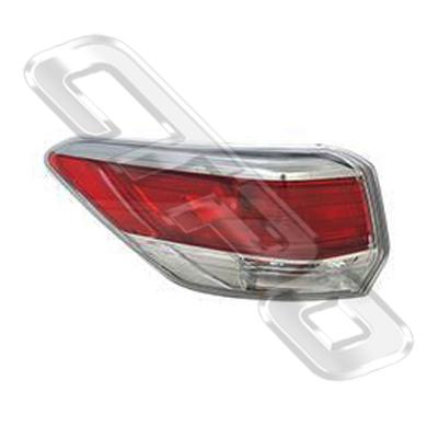 REAR LAMP - L/H - OUTER - TO SUIT TOYOTA HIGHLANDER/KLUGER 2014-