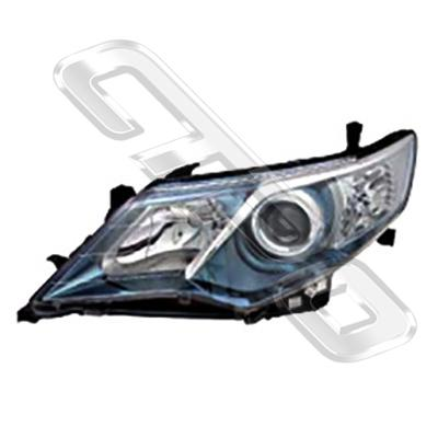 HEADLAMP - L/H - BLUE - HYBRID TYPE - TO SUIT TOYOTA CAMRY 2012-