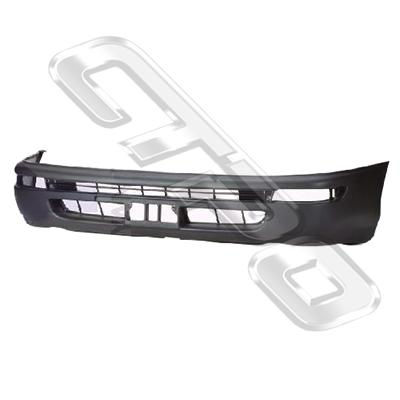 FRONT BUMPER - BLACK - TO SUIT TOYOTA COROLLA - AE100 - 92- EARLY