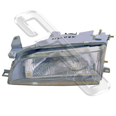 HEADLAMP - L/H - W/E - PLASTIC LENS - TO SUIT TOYOTA COROLLA AE100 1992-