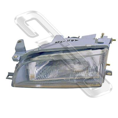 HEADLAMP - L/H - W/E - GLASS LENS - TO SUIT TOYOTA COROLLA AE100 SDN 1992-
