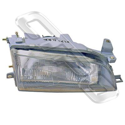 HEADLAMP - R/H - W/E - GLASS LENS - TO SUIT TOYOTA COROLLA AE100 SDN 1992-