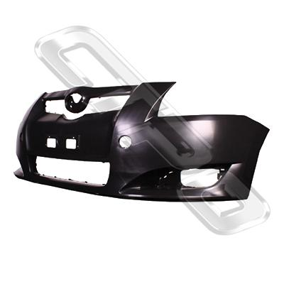 FRONT BUMPER - MAT/BLACK - TO SUIT TOYOTA COROLLA 2007-  H/BACK