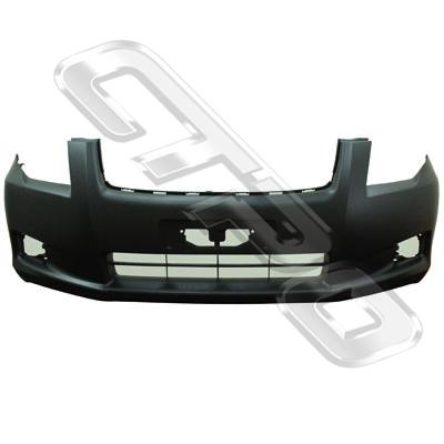 FRONT BUMPER - PRIMED - BLACK - TO SUIT TOYOTA COROLLA AXIO/FIELDER 2006-