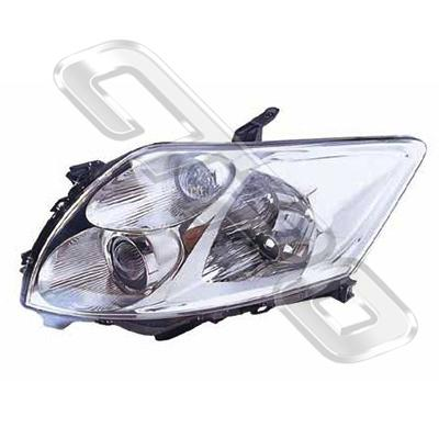 HEADLAMP - L/H - TO SUIT TOYOTA COROLLA 2007-  H/BACK