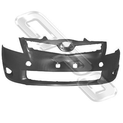 FRONT BUMPER - PRIMED GREY - TO SUIT TOYOTA COROLLA 2010-  H/BACK