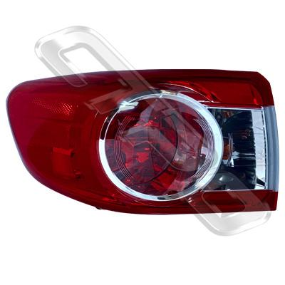 REAR LAMP - L/H - OUTER - TO SUIT TOYOTA COROLLA 2010- SEDAN