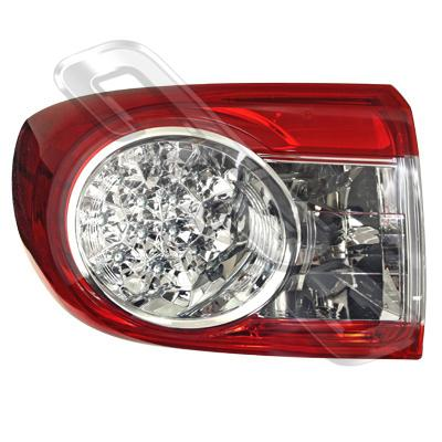 REAR LAMP - L/H - OUTER - LED TYPE - TO SUIT TOYOTA COROLLA 2010- SEDAN