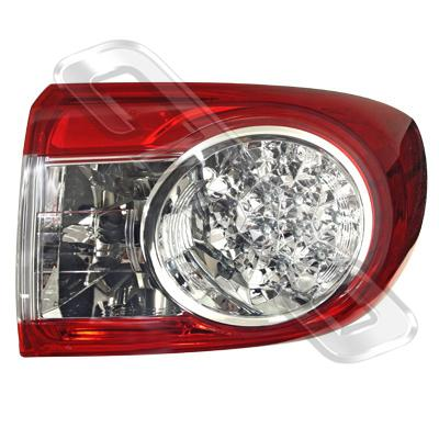 REAR LAMP - R/H - OUTER - LED TYPE - TO SUIT TOYOTA COROLLA 2010- SEDAN