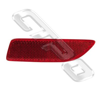 REAR LAMP - L/H - REFLECTOR GOES IN BUMPER - TO SUIT TOYOTA COROLLA 2011- SEDAN  F/LIFT
