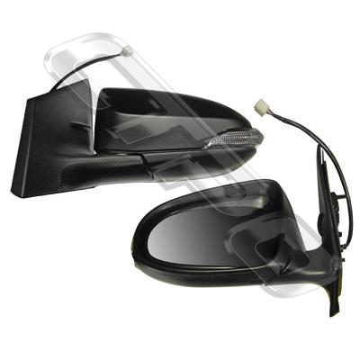 DOOR MIRROR - L/H - ELECTRIC - W/LAMP - TO SUIT TOYOTA COROLLA 2012-