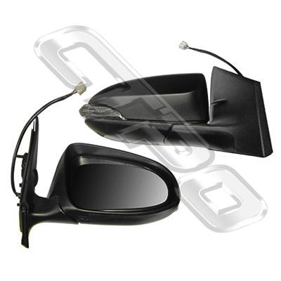 DOOR MIRROR - R/H - ELECTRIC - W/LAMP - TO SUIT TOYOTA COROLLA 2012-