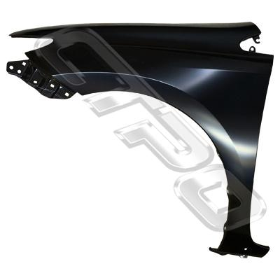 FRONT GUARD - L/H - NON REPEATER - WITH MOULDING HOLES - TO SUIT TOYOTA COROLLA 2012- HATCH