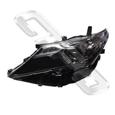 HEADLAMP - L/H - ELECTRIC - BLACK - TO SUIT TOYOTA COROLLA 2012-