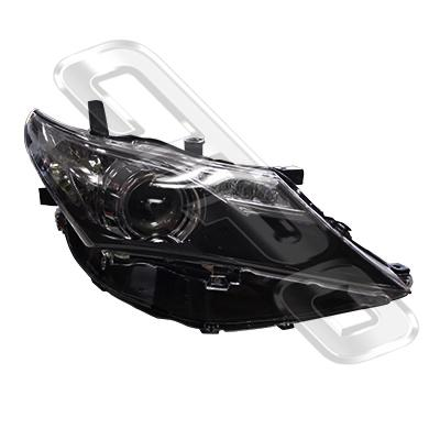 HEADLAMP - R/H - ELECTRIC - BLACK - TO SUIT TOYOTA COROLLA 2012-