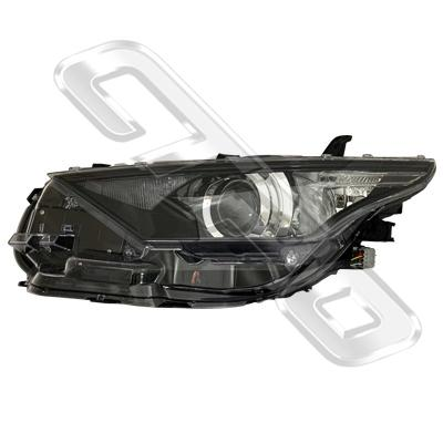 HEADLAMP - L/H - ELECTRIC - WITH LED - BLACK - TO SUIT TOYOTA COROLLA 2015- HATCH