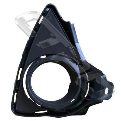 FOG LAMP COVER - R/H - WITH HOLE - TO SUIT TOYOTA COROLLA 2012- HATCH