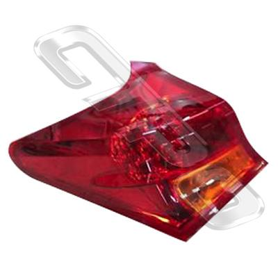 REAR LAMP - L/H - OUTER - TO SUIT TOYOTA COROLLA 2012- HATCH