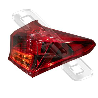 REAR LAMP - R/H - OUTER - LED - TO SUIT TOYOTA COROLLA 2012- HATCH